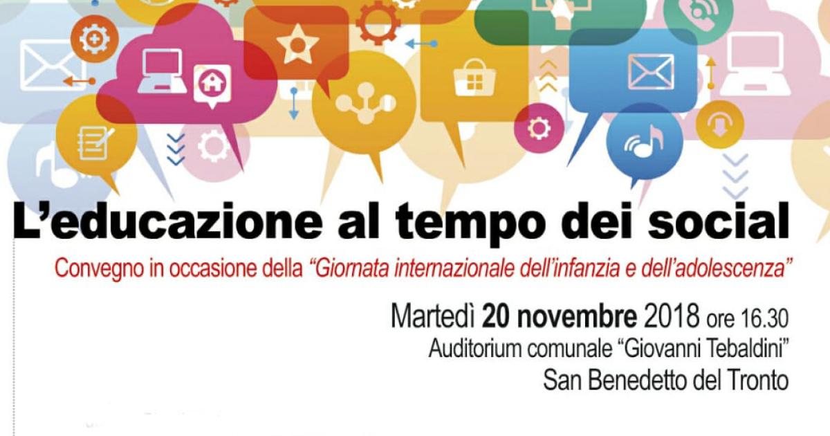 20 novembre 2018 | L'educazione al tempo dei social
