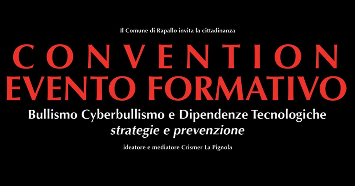 09/11/2019 – Convention Formativo Bullismo e Cyberbullismo