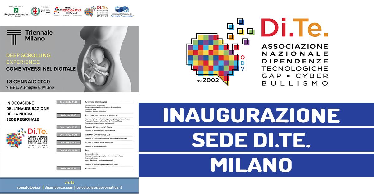 18/1/2020 – Inaugurazione Sede DITE Milano