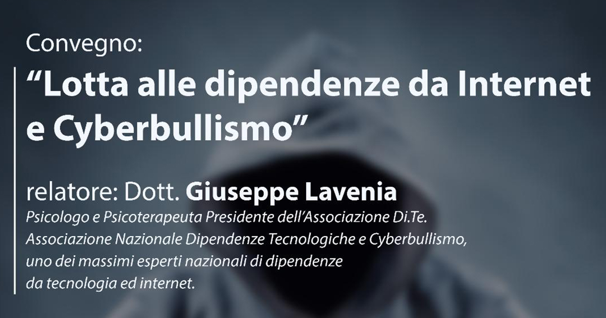 lotta alle dipendenze da internet e cyberbullismo cover giuseppe lavenia
