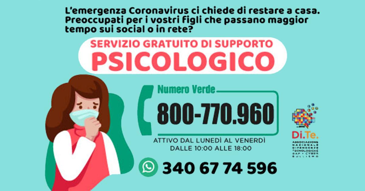 Servizio Gratuito di Supporto Psicologico
